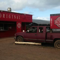 Photo taken at Romy's Kahuku Prawns & Shrimp Hut by Andrew M. on 6/8/2013
