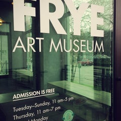 Photo taken at Frye Art Museum by Kate K. on 3/12/2013