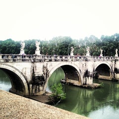Photo taken at Ponte Sant'Angelo by Merve İ. on 5/2/2013