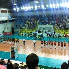 Photo taken at Ginásio Municipal Artenir Werner by Guilherme C. on 11/27/2012