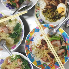 Photo taken at บะหมี่ แสบ X2 (Noodle+Khamoo Restaurant) by Keleigh R. on 9/3/2015