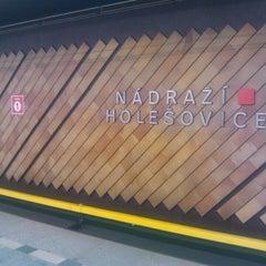 Photo taken at Metro =C= Nádraží Holešovice by Jana on 10/28/2013