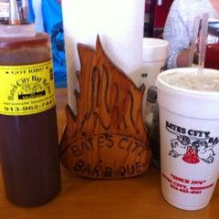 Photo taken at Bates City BBQ by Derek S. on 10/4/2014