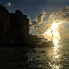 Photo taken at Tegal Wangi Beach by Lilia Z. on 1/16/2016