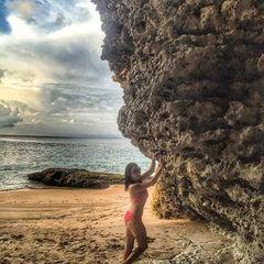 Photo taken at Tegal Wangi Beach by Lilia Z. on 1/20/2016