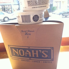 Photo taken at Noah's New York Bagels by Michael B. on 4/28/2013