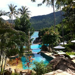 Photo taken at Panviman Resort Koh Phangan by Paul L. on 11/22/2012