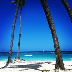 Photo taken at Riu Palace's Beach by Stefanie D. on 2/15/2013