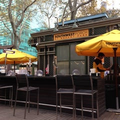 Photo taken at Southwest Porch at Bryant Park by Jordan P. on 11/15/2012