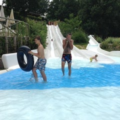 Photo taken at Altomincio Pool by Regine P. on 6/23/2014