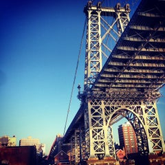 Photo taken at Williamsburg Bridge by Nick L. on 4/10/2013