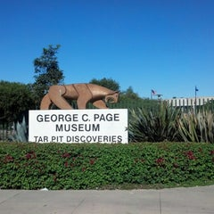 Photo taken at La Brea Tar Pits by Mark G. on 10/25/2012