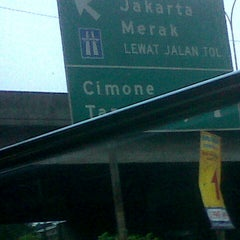 Photo taken at Exit tol curug / bitung by Harriets A. on 8/11/2013