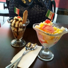 Photo taken at City Ice Cream Cafe by Puspa I. on 4/22/2015