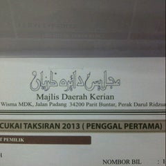 Photo taken at Majlis Daerah Kerian by Mdm zee on 1/22/2013