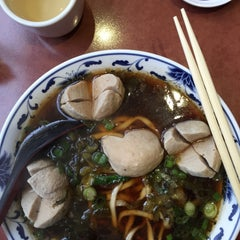 Photo taken at Lao Shan Dong Homemade Noodle House by Dan on 1/7/2015
