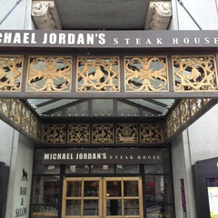 Photo taken at Michael Jordan's Steak House Chicago by linley a. on 3/28/2013
