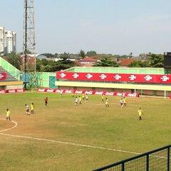 Photo taken at Stadion Lebak Bulus by Nanang S. on 7/1/2012