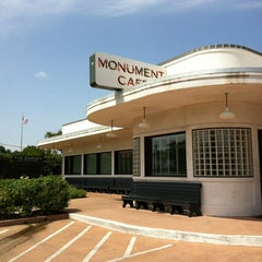Photo taken at The Monument Café by TRACY S. on 7/4/2012