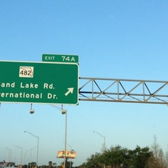 Photo taken at I-4 Exit 74A, SR 482/Sand Lake Road by Alex G. on 3/22/2012