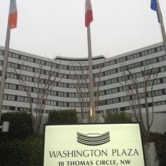 Photo taken at Washington Plaza Hotel by Christian A. on 3/25/2013