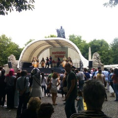 Photo taken at Karlsplatz by Emre B. on 6/23/2014