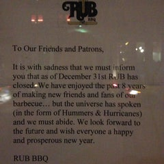 Photo taken at RUB (Righteous Urban BBQ) by Michael D. on 1/11/2013