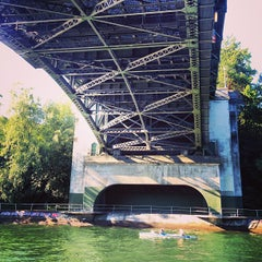Photo taken at Montlake Bridge by Alex P. on 7/29/2013