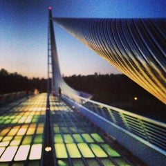 Photo taken at Sundial Bridge at Turtle Bay Exploration Park by Alex P. on 6/6/2013