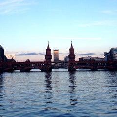 Photo taken at Oberbaumbrücke by Pierre D. on 5/21/2013