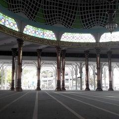 Photo taken at Masjid Agung Al-Falah by Amard A. on 3/31/2014