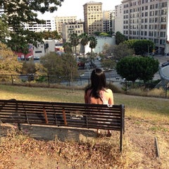 Photo taken at Tom Hansen's Bench (500 Days of Summer) by Amanda S. on 8/27/2013
