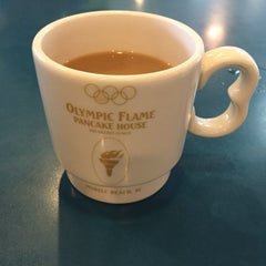 Photo taken at Olympic Flame Pancake House by William M. on 4/20/2015