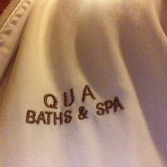 Photo taken at Qua Baths & Spa by pauline p. on 10/30/2014