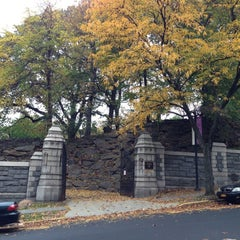 Photo taken at Trinity Church Cemetery & Mausoleum by Peeshepig on 10/28/2012