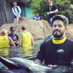 Photo taken at Discovery Cove Parking by Ivan A. on 8/5/2014