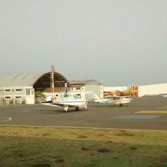 Photo taken at Aeroporto Estadual Campo dos Amarais (CPQ/SDAM) by Marcelo F. on 10/17/2014