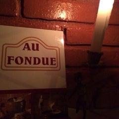 Photo taken at Au Fondue by Davidson M. on 12/22/2013