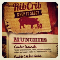 Photo taken at RibCrib BBQ & Grill by Dave S. on 12/19/2012