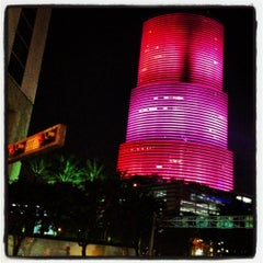 Photo taken at Brickell Ave Bridge by MAR on 10/28/2012