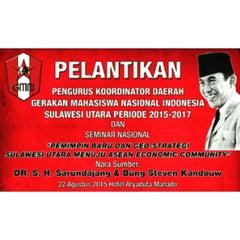 Photo taken at Universitas Sam Ratulangi (UNSRAT) by Intan G. on 8/22/2015