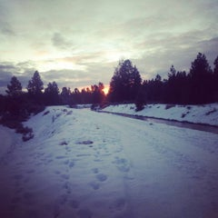 Photo taken at Deschutes River Trail Footbridge by Jim S. on 1/8/2016