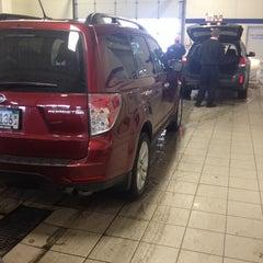 Photo taken at Morrie's Brooklyn Park Nissan Subaru by Shaun W. on 1/3/2014
