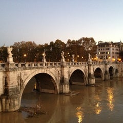 Photo taken at Ponte Sant'Angelo by Marcelo A. on 12/3/2012