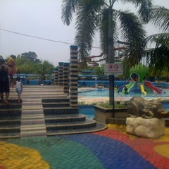 Photo taken at Hairos Indah Waterpark by Anggara on 8/31/2014