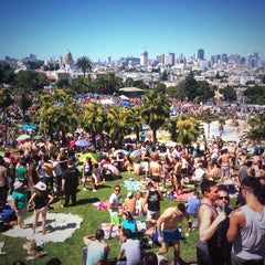 Photo taken at Mission Dolores Park by David B. on 6/29/2013