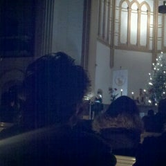 Photo taken at American Church in Berlin by June K. on 12/25/2012