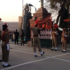 Photo taken at Wagah Border - India Pakistan Border by Himasagar Y. on 12/14/2014