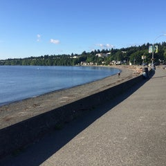 Photo taken at Departure Bay Beach by Davey N. on 6/17/2014