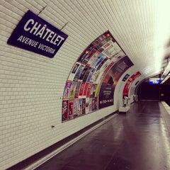 Photo taken at Métro Châtelet [1,4,7,11,14] by Simon Z. on 7/6/2013